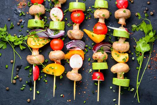 Шашлык из сезонных овощей