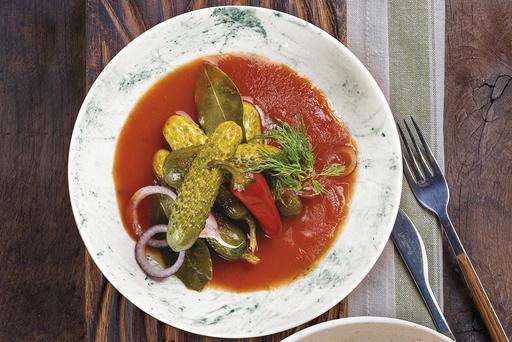 Азербайджанские огурцы в томате