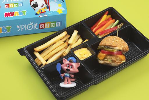 Комбо с бургером из телятины + игрушка