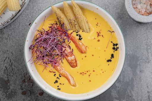 Кукурузный крем-суп с крабом