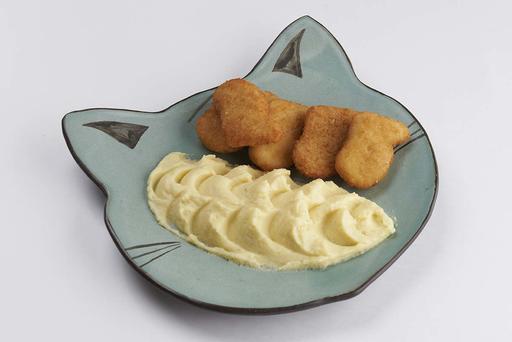 Куриные наггетсы с картофельным пюре