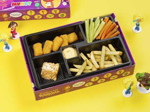Комбо с рыбными наггетсами + игрушка