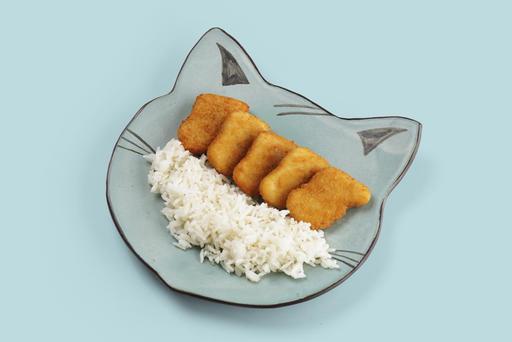 Куриные наггетсы с отварным рисом