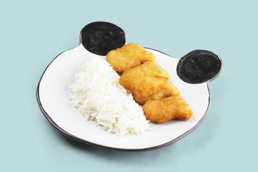 Рыбные наггетсы с отварным рисом