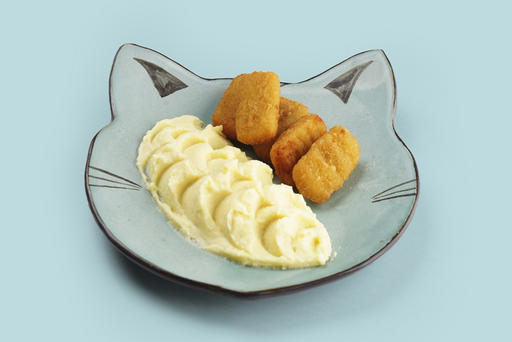 Рыбные наггетсы с картофельным пюре